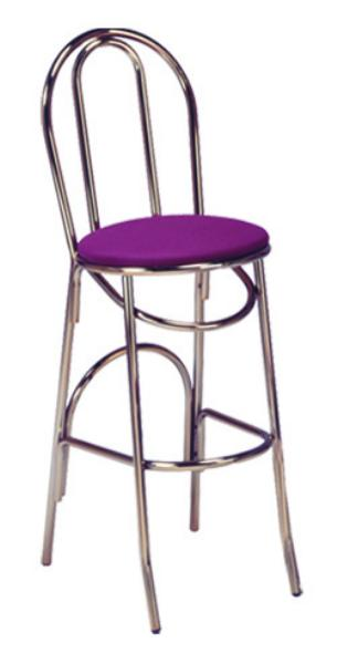 Vitro X52BS Parlor Hairpin Bar Stool, 1 in Pulled Seat, Metal Paint Frame