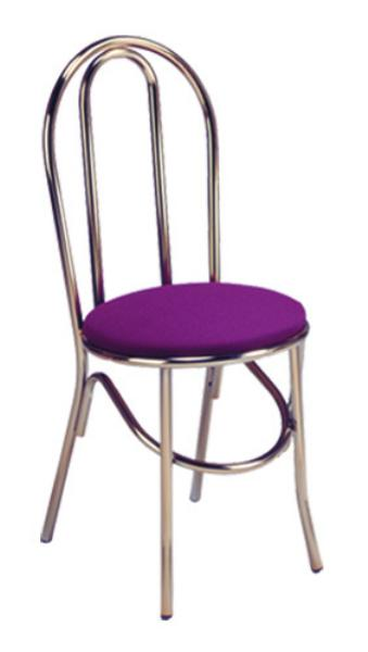Vitro X52 Parlor Hairpin Chair, 1 in Pulled Seat, Metal Paint Frame