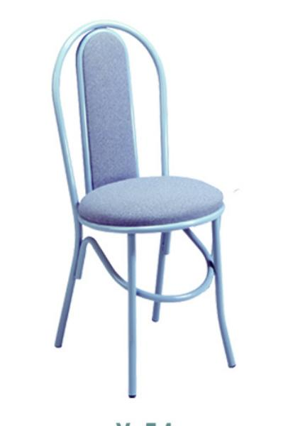 Vitro X54 Parlor Upholstered Hairpin Chair, 1 in Pulled Seat, Metal Paint Frame