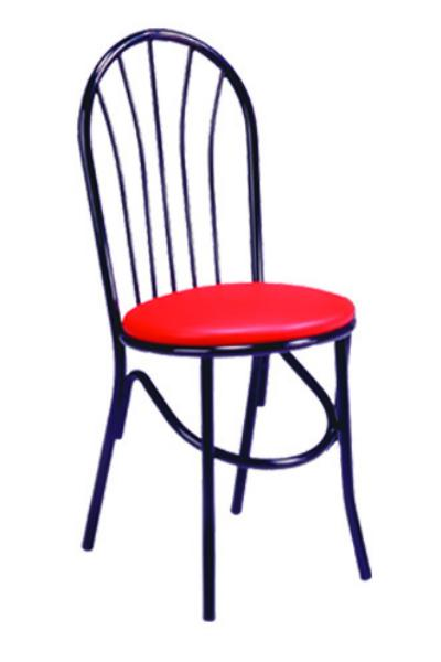 Vitro X55 Parlor Fanback Chair, 1 in Pulled Seat, Metal Paint Frame