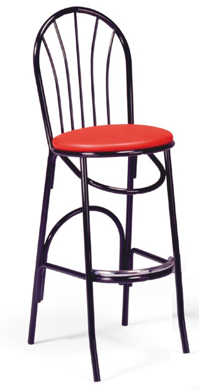 Vitro X-56BS 4-Spindle Parlor Fan Back Barstool w/ 1-in Pulled Seat & 13-Platform Glide