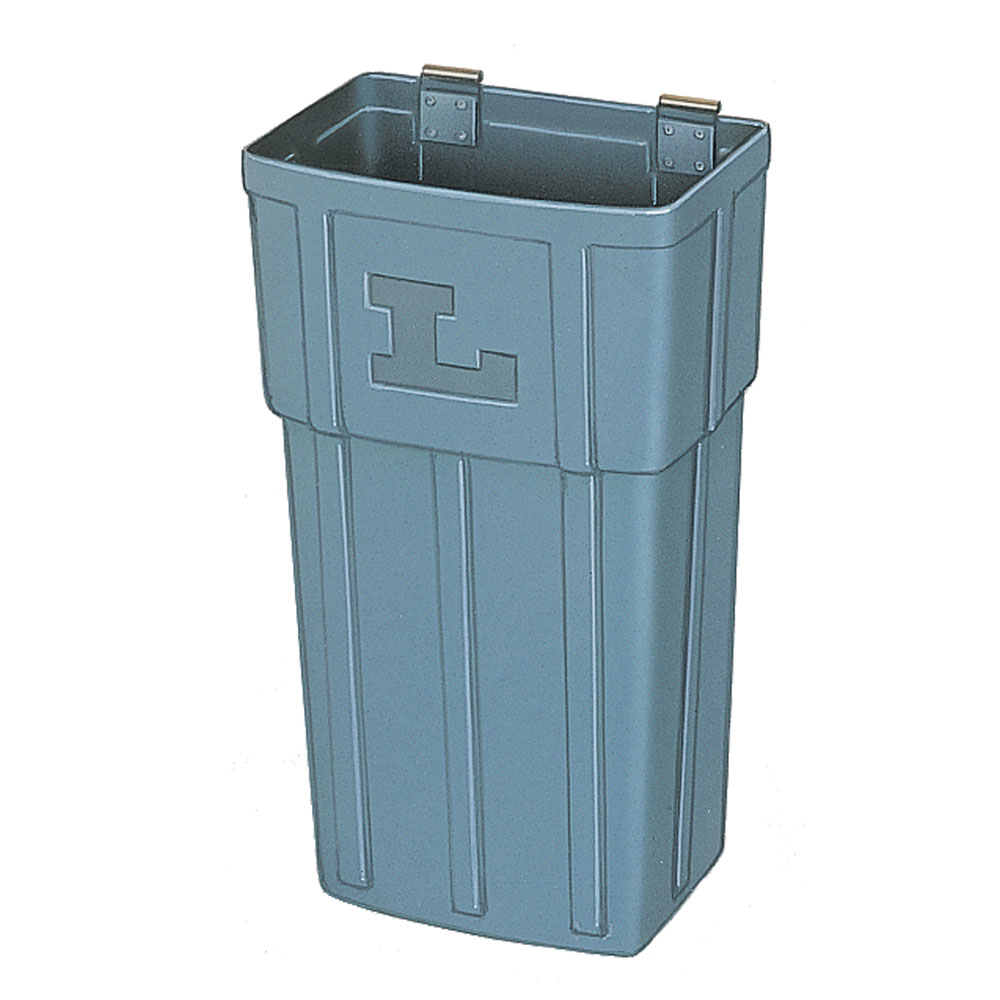 Lakeside 202-6 Large Waste Basket w/ Hanger Strap, Polyethylene, Gray