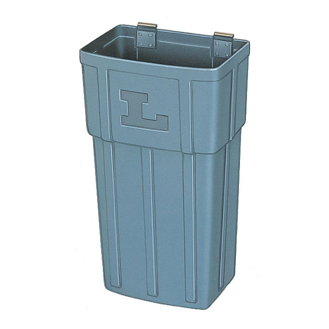 Lakeside 202 Large Waste Basket w/ Hanger Strap, Polyethylene, Gray