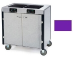 Lakeside 2070 PURP 40.5-in High Mobile Cooking Cart w/ 2-Induction Heat Stove, Purple