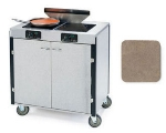 Lakeside 2075 BGESUE 40.5-in High Mobile Cooking Cart w/ 2-Infrared Stove, Beige Suede