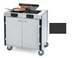 Lakeside 2075 BLK 40.5-in High Mobile Cooking Cart w/ 2-Infrared Heat Stove, Black