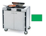 Lakeside 2075 GRN 40.5-in High Mobile Cooking Cart w/ 2-Infrared Heat Stove, Green