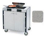 Lakeside 2075 GRSAN 40.5-in High Mobile Cooking Cart w/ 2-Infrared Stove, Gray Sand