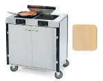 Lakeside 2075 LTMAP 40.5-in High Mobile Cooking Cart w/ 2-Infrared Stove, Light Maple