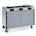 "Lakeside 2080 GRSAN 35.5"" High Mobile Cooking Cart w/ 3 Induction Stove, Gray Sand"