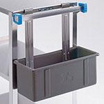 Lakeside 208 Silver/Flatware Box w/ Hanger Straps, Polyethylene, Gray