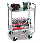 Lakeside 210 2-Level Stainless Utility Cart w/ 500-lb Capacity, Flat Ledges