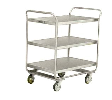 Lakeside 211 3-Shelf Utility Cart w/ (2) Push Handles, 500-lb Capacity