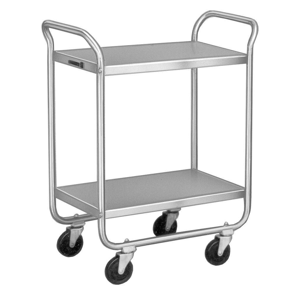 Lakeside 221 2-Level Stainless Utility Cart w/ 500-lb Capacity, Flat Ledges
