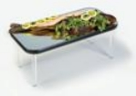 Lakeside 2265 Rectangular Rimless Mirror Tray w/ Clear Acrylic Legs, 16 x 32""