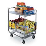 Lakeside 243 2-Level Stainless Utility Cart w/ 500-lb Capacity, Flat Ledges