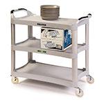 Lakeside 2510 3-Level Polymer Utility Cart w/ 500-lb Capacity, Flat Ledges