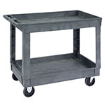 Lakeside 2523 2-Level Polymer Utility Cart w/ 500-lb Capacity, Raised Ledges