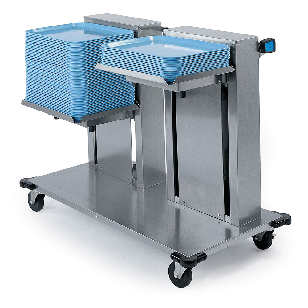 "Lakeside 2818 Mobile Double Cantilever Tray Dispenser for 14 x 18"" Trays"
