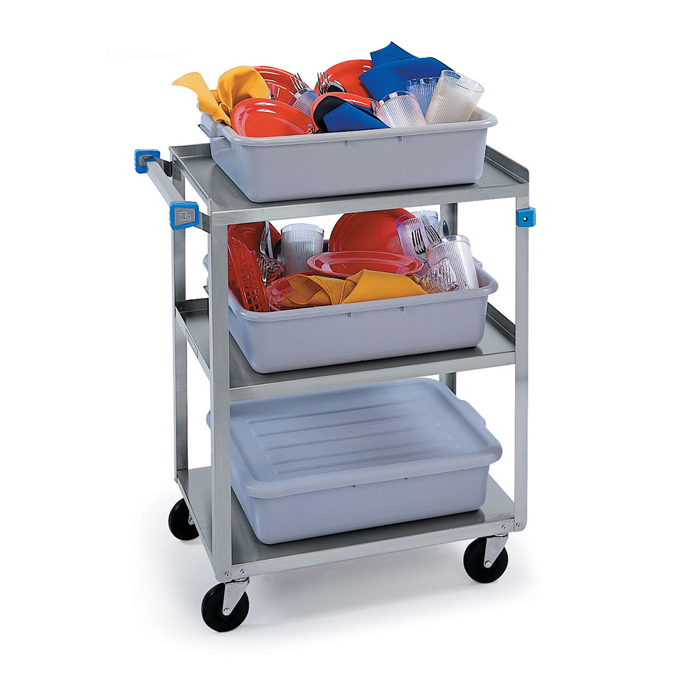 "Lakeside 311 Utility Cart, (3) 15-1/2"" X 24"" ShelvesStainless Angle Frame, 300 lb"