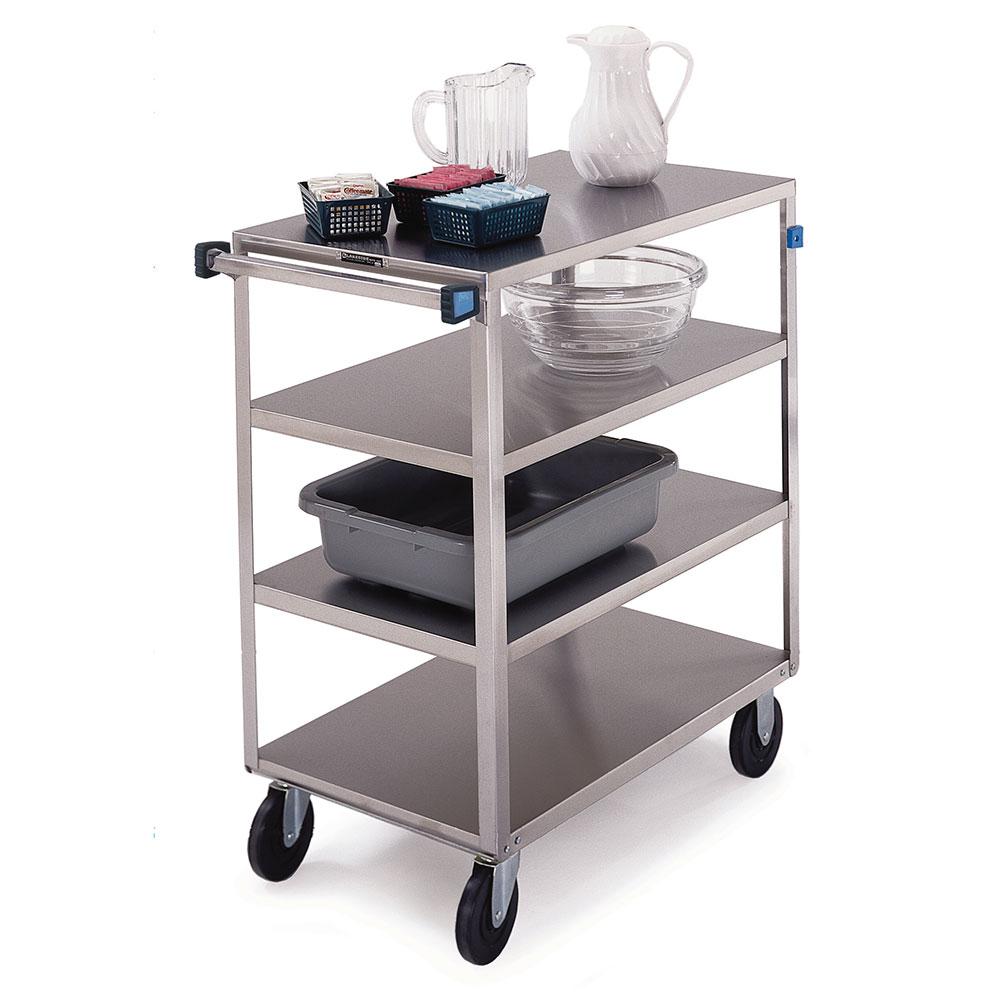 Lakeside 353 4-Level Stainless Utility Cart w/ 500-lb Capacity, Flat Ledges