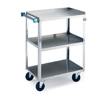 Lakeside 411 Utility Cart, (3) 15-1/2 in x 24 in Shelves, SS Angle Frame, 500 lb