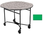 Lakeside 412 GRN 40-in Round Drop-Leaf Room Service Table w/ Laminated Top, Green