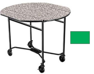 "Lakeside 412 GRN 40"" Round Drop-Leaf Room Service Table w/ Laminated Top, Green"