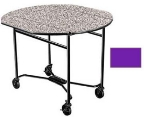 "Lakeside 412 PURP 40"" Round Drop-Leaf Room Service Table w/ Laminated Top, Purple"