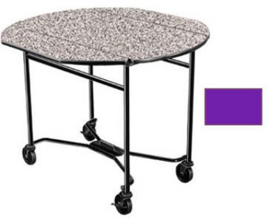 Lakeside 412 PURP 40-in Round Drop-Leaf Room Service Table w/ Laminated Top, Purple