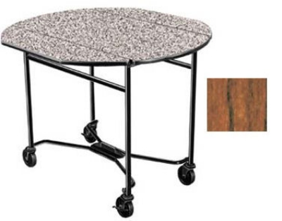 Lakeside 412 VCHER 40-in Round Drop-Leaf Room Service Table, Victorian Cherry