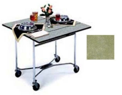 "Lakeside 413 BGSUE 36"" Square Drop-Leaf Room Service Table, Beige Suede"