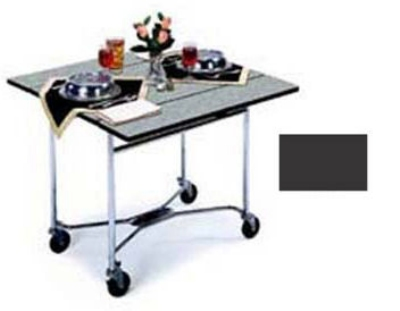 "Lakeside 413 BLK 36"" Square Table Room Service Cart, Black"