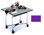 Lakeside 413 PURP 36-in Square Drop-Leaf Room Service Table w/ Laminated Top, Purple