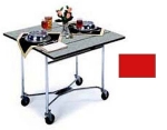 "Lakeside 413 RED 36"" Square Table Room Service Cart, Red"