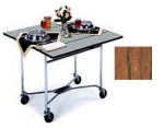 "Lakeside 413 36"" Square Table Room Service Cart, Victorian Cherry"