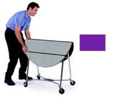 "Lakeside 415 PURP 40"" Round Table Room Service Cart, Purple"