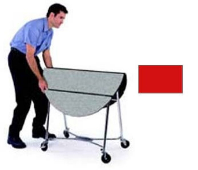 "Lakeside 415 RED 40"" Round Table Room Service Cart, Red"