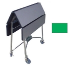 "Lakeside 416 GRN 36"" Square Table Room Service Cart, Green"