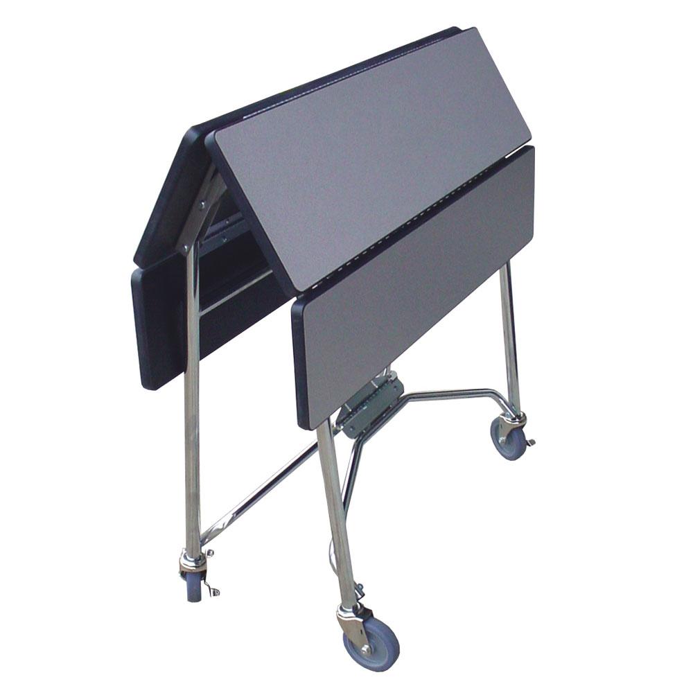 "Lakeside 416 GRSAN 36"" Square Table Room Service Cart, Gray"