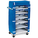 "Lakeside 437 30.75"" Room Service Cart w/ 6 Levels & Cover"