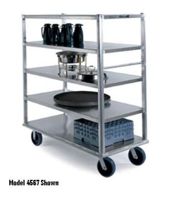 "Lakeside 4565 Extreme Duty Banquet Cart w/ (4) 27 x 64"" Shelves, 2500-lb"