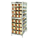 """Lakeside 478 74.25""""H Stationary Can Rack w/ (144) #10 or (192) #5 Capacity, Adjustable Feet"""