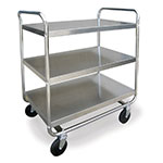 Lakeside 493 3-Shelf Utility Car w/ Push Handles, 21 x 33-in, 500-lb Capacity