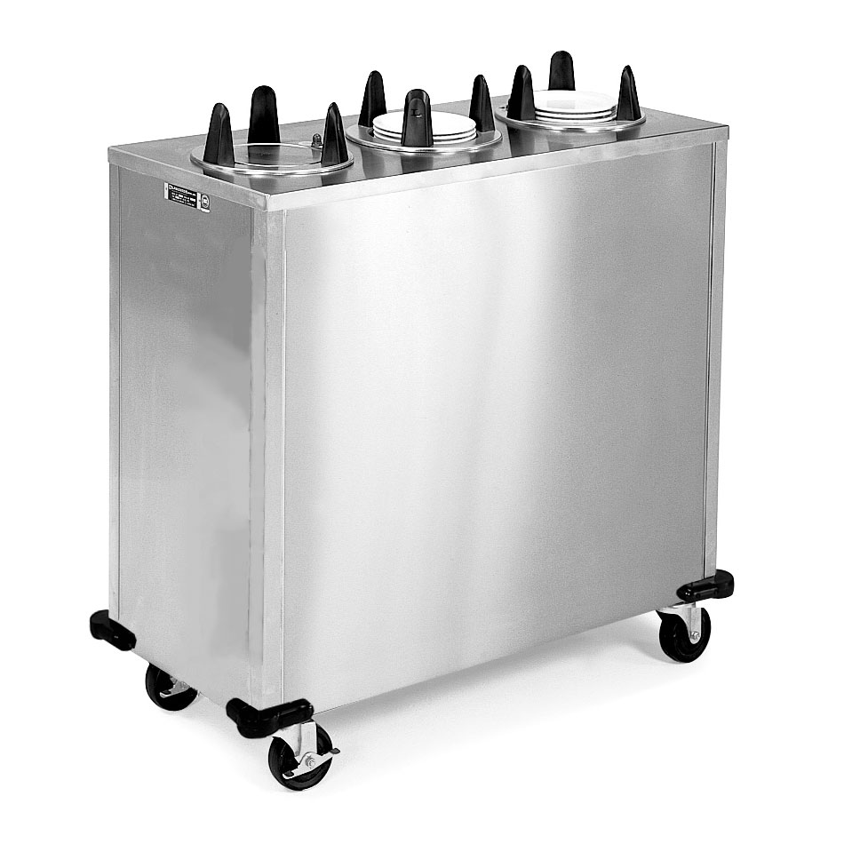 """Lakeside 5306 Enclosed Dish Dispenser w/ 3 Round Tubes for Dish Up To 6.5"""""""