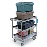 Lakeside 544 3-Level Stainless Utility Cart w/ 700-lb Capacity, Raised Ledges