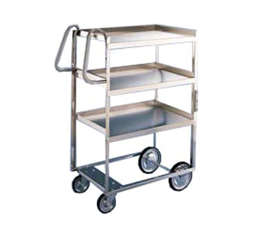 Lakeside 5925 3-Level Stainless Utility Cart w/ 700-lb Capacity, Raised Ledges
