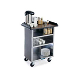 Lakeside 636 LMAP Laminate Beverage Service Cart w/ 3-Shelves, Light Maple