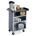 "Lakeside 636 WAL 30.25"" Stainless Beverage Service Cart, 21""D x 38.31""H, Wood"