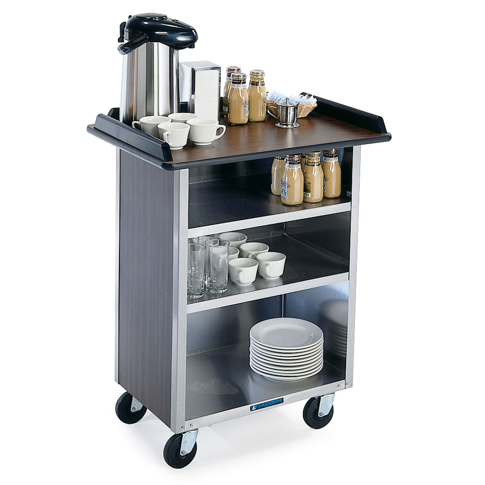 Lakeside 636 WAL 30.25 Stainless Beverage Service Cart, 2...